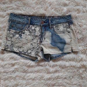3/$30-American Eagle Lace Denim Short